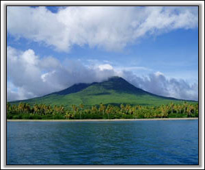 Nevis Peak As Seen From The Sea