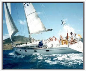 Sailing Off The Coast Of Nevis - Villa Rentals Of Nevis