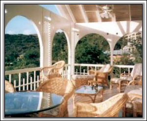 The Veranda Overlooks St. Kitts