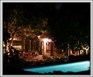 The Pool At Night - Butler's House - Nevis Villas