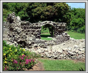 Ancient Nevis Ruins Are On The Property - Nevis Villa Rental