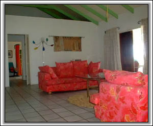 Colorful, West Indian Style Lounge