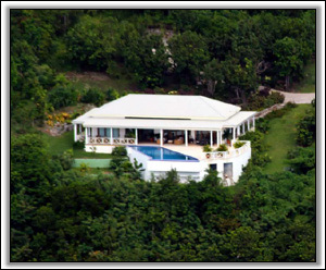 An Aerial View Of Coccoloba Villa - Cocoloba Villa - Nevis, West Indies