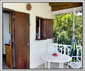 Conch Shells' Patio Overlooks The Caribbean - Nevis Rental Homes