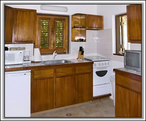 Conch Shell Cottage's Well Equipped Kitchen - Nevis Rental Properties
