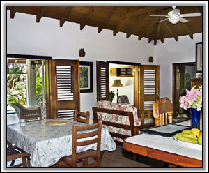 The Lounge Receives Tropical Breezes - Nevis Holiday Homes