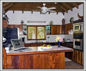 The Spacious Kitchen At Coral Reef - Nevis Villas