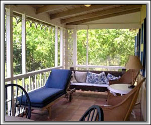 The Relaxing Verandah Looks Out To Sea - Nevis Homes