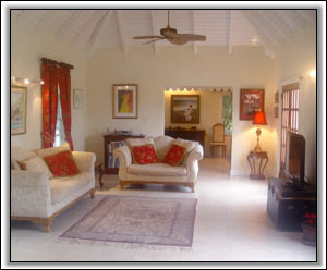 The Spacious Sitting Room At Figtree House  - Luxury Nevis Villas