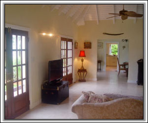 The Living Room Leads To The Dining Area - Nevis Villas To Let