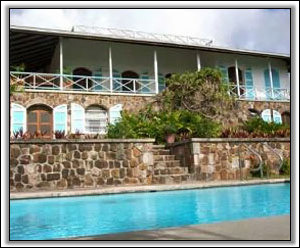 Frye House Overlooks A Gorgeous Pool - Frye House - Nevis Holiday Homes