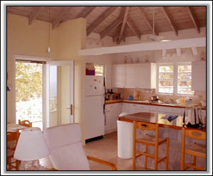 The Large Kitchen At High View House - Luxury Nevis Houses