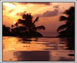 A Spectacular Nevis Sunset Over The Pool - Nevis Island Villas