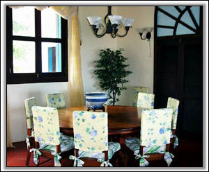 A Dining Room With Tropical Flair - Nevis Holiday Property