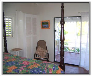 Caribbean Style Linens Adorn The Bed - Nevis Villas