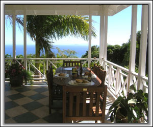 Dining In Nevis Overlooking The Sea - Holiday Villas