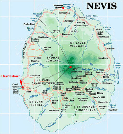 Nevis Island Maps A collection of maps for Nevis Island West Indies