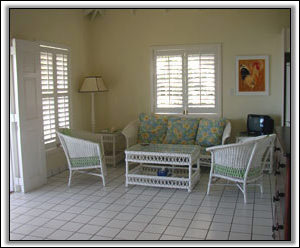 The Sitting Room Has Great Views Of Nevis - Villa Rentals