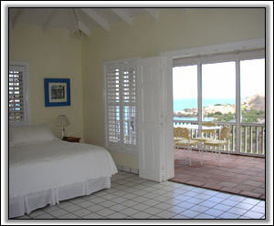 Spectacular View From The Bedroom - Nevis Island Property