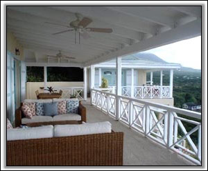 The Veranda Overlooks Nevis & The Sea - Nevis Villa Rental