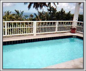 The Pool Overlooks The Sea And Nearby Islands - Nevis Island Rentals