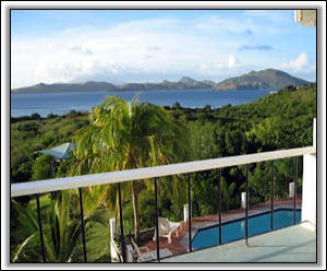 The Pool Overlooks Oualie Bay And St. Kitts - Vacation Homes
