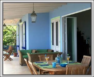 The Veranda Looks Out To The Caribbean - Holiday Homes