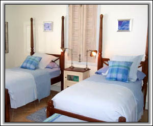 The Bedrooms Look Out Over The Caribbean - Nevis Rentals
