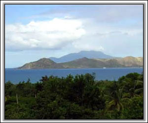 A View Of Oualie Bay And Saint Kitts - Luxury Villas