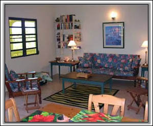 The Living Room In Caribbean Colors - Villa Rentals