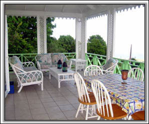 Caribbean Colors Adorn The Large Verandah - Holiday Rentals